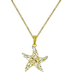 Signature Gold Plate Sterling Sea Star Necklace