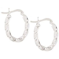 Signature Twisted Sterling Silver Hoop Earrings