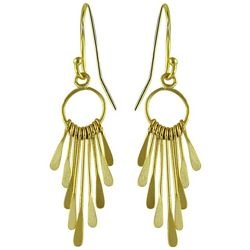 Signature Gold Tone Hoop Stick Dangle Earrings