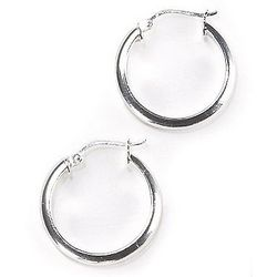 Signature Polished Hoop Earrings
