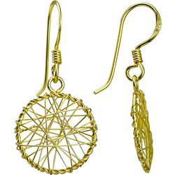 Signature Gold Tone Dreamcatcher Earrings