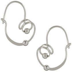 Signature Sterling Orbital Swirl Hoop Earrings