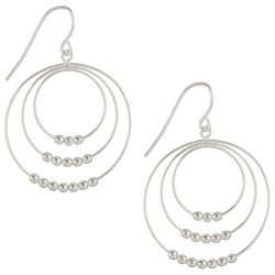 Signature Sterling Triple Ring Dangle Earrings