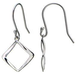 Signature Sterling Silver Open Diamond Earrings