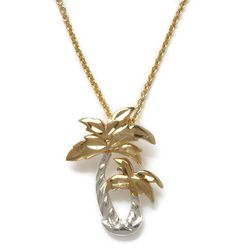 Signature Palm Tree Pendant & Necklace
