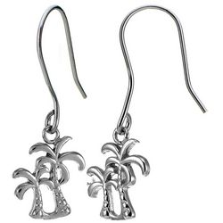Signature Sterling Silver Palm Tree Drop Earrings
