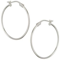 Signature Sterling Silver Thin Hoop Earrings