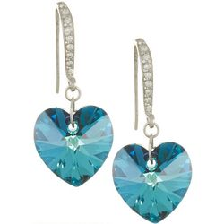 Signature Indicolite Blue Glass Heart Earrings