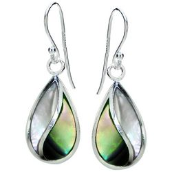 Beach Chic Abalone Shell Teardrop Shape Earrings