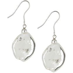 Signature Glass Twist Sterling Silver Earrings