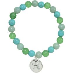 Beach Chic Green Multi Bead Starfish Bracelet