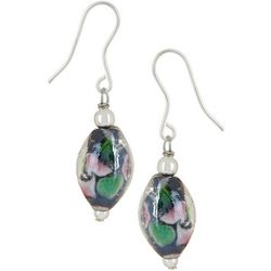 Signature Floral Glass Bead Drop Earrings