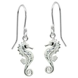 Signature Sterling Silver Seahorse Dangle Earrings