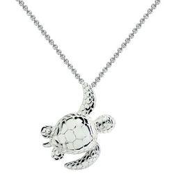 Signature Sterling Silver Sea Turtle Pendant Necklace