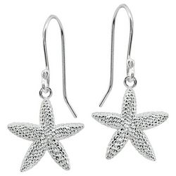 Signature Sterling Silver Starfish Drop Earrings