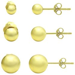 Piper & Taylor 3-Pc. Trio Gold Tone Stud Earrings
