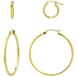 Piper & Taylor 2-Pc. Lever Back Hoop Earrings Set