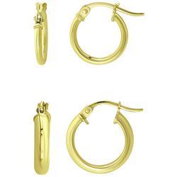 Piper & Taylor Small Gold Tone Hoop Earrings
