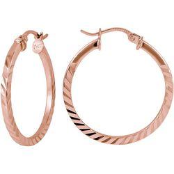 Signature Rose Tone Click-It Hoop Earrings