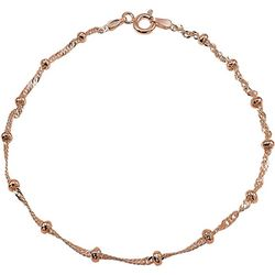 Signature 10 Singapore Chain & Bead Anklet