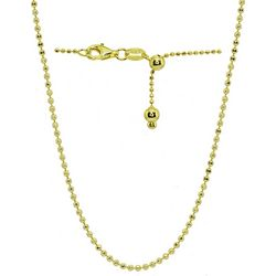 Signature Gold Tone Bead Chain Adjustable Necklace