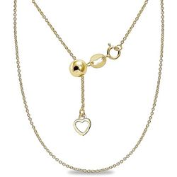 Signature Gold Tone Cable Chain Adjustable Necklace