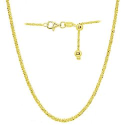 Signature Gold Tone Sparkle Chain Adjustable Necklace