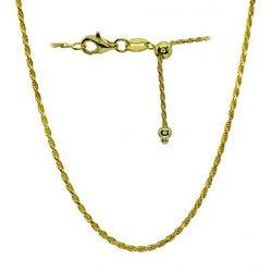 Signature Gold Tone Rope Chain Adjustable Necklace