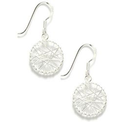 Signature Sterling Sliver Wire Wrap Drop Earrings