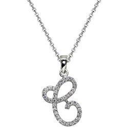 Signature Sterling Silver C Script Initial Pendant Necklace