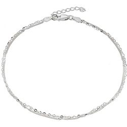 Signature Mixed Chain Two Strand Anklet