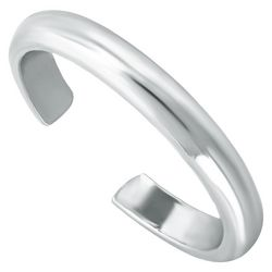 Silver Smooth Band Toe Ring
