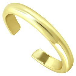 Gold Smooth Band Toe Ring