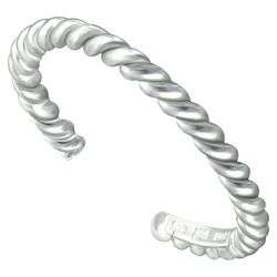 Silver Rope Toe Ring