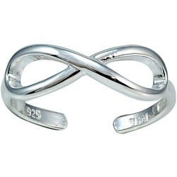 Signature Silver Infinity Toe Ring