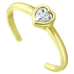 Gold Heart Shape Toe Ring