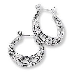 Signature Sterling Hoop Earrings