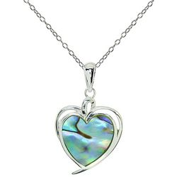 Beach Chic Boxed Abalone Shell Heart Necklace