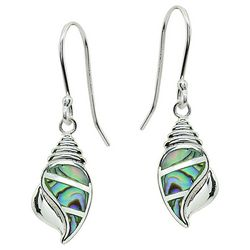 Beach Chic Abalone Shell Drop Earrings