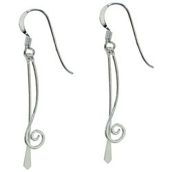 Signature Sterling Silver Stick Swirl Earrings