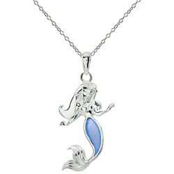 Beach Chic Blue Mermaid Pendant Necklace
