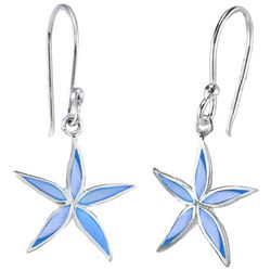 Beach Chic Blue Starfish Dangle Earrings