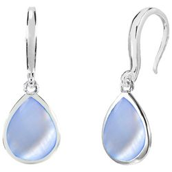 Beach Chic Blue Shell Teardrop  Earrings