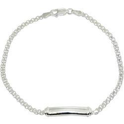 Signature Sterling Silver Bar Chain Bracelet