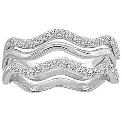 Signature Sterling Silver CZ Stack Rings