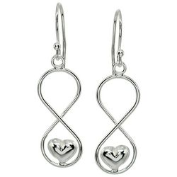 Signature Sterling Silver Figure 8 Heart Drop Earrings