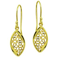Signature Gold Tone Open Work Filigree Earrings