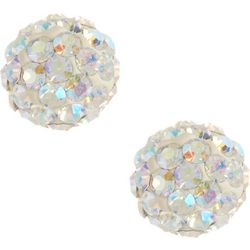 Signature Clear AB Crystal Stud Earrings