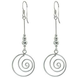 Signature Sterling Silver Swirl Drop Earrings