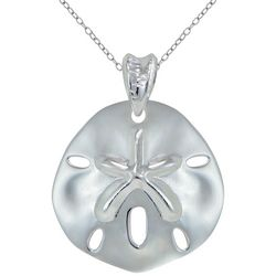 Silver Sand Dollar Pendant Necklace